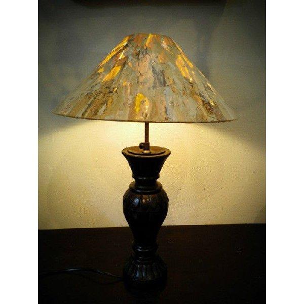 バリ島製 ウッド彫刻スタンド アジアンランプ A H60cm 【アジアン雑貨 照明 フロアライト スタンド 間接照明 インテリア おしゃれ アート】
