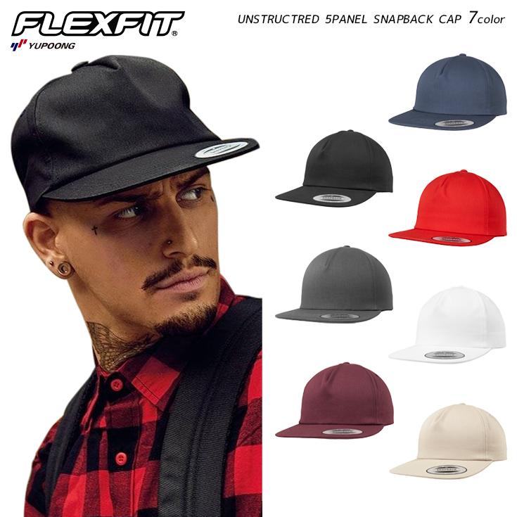 YUPOONG ユーポン 6502 UNSTRUCTRED 高品質 5PANEL SNAPBACK CAP 帽子 作成 対応可 別注 格安 格安店 1個から 定番 オリジナル 刺繍