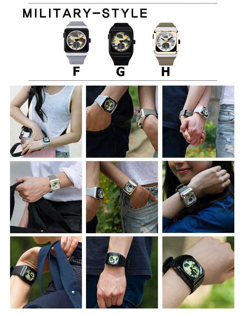 スーパークロック ANADIGI腕時計 高級シリコンベルト 防水 シリコンベルト デザイン腕時計 メンズ腕時計 レディース腕時計 ウォッチ ミリタリー時計 ストリートブランド ランニング アウトドア プレゼント 記念 祝い ギフト バリエーション10種類展開 ベルト調節可能 新品