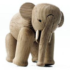 ゾウ 木製 カイ・ボイスン デンマークElephant ゾウ 16cm #39252 木製玩具北欧 インテリア 木製 置物 ギフト