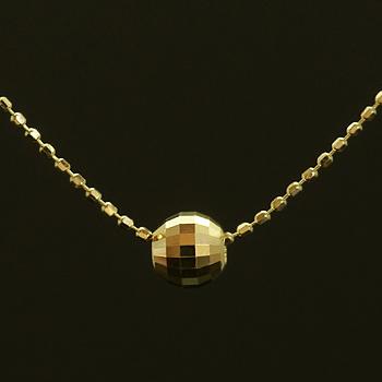 ミラーボールペンダント「オーロ/グレーン」ゴールド ネックレス(チェーン付き)