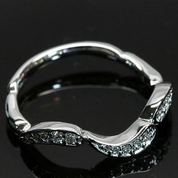 """美シルエットで指を長く!ダイヤモンド""""コルソ""""リング 誕生石 4月"""