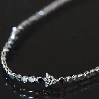 エントリーのみでポイント10倍 4/9 20時~ キラリと輝くダイヤモンド☆「トゥインクルスレンダー」ブレスレット※こちらの商品はご注文いただいてから約1ヶ月ほどお時間をいただいております。送料無料