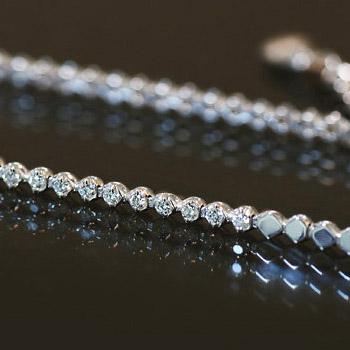 こんなの欲しかった!細身のダイヤモンドブレスレット※こちらの商品はご注文頂いてからお届けまで約1ヶ月お時間がかかります。 誕生石 4月