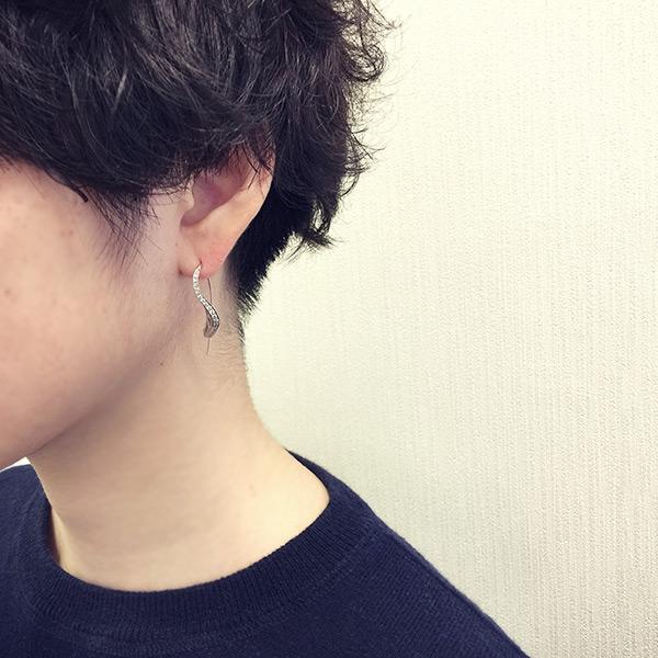 全品ポイント10倍イツキ ダイヤモンド ピアス ITSUKI Diamond pierced earring MYTHOS seriesJJAジュエリーデザインアワード2017 経産大臣賞 プラチナ・ギルド・インターナショナル賞 関連ジュエリー 誕生石 4月1J3cuTlKF
