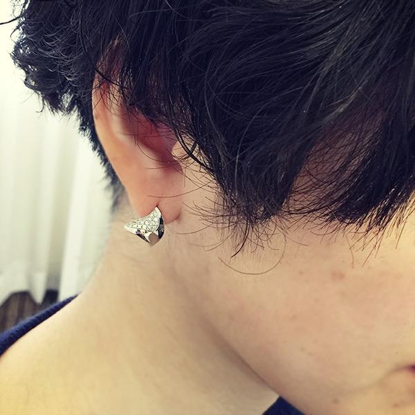 エントリーのみでポイント10倍 4/9 20時~ 「カズハ」ダイヤモンド ピアス KAZUHA Diamond pierced earring MYTHOS seriesJJAジュエリーデザインアワード2017 経産大臣賞 プラチナ・ギルド・インターナショナル賞 関連ジュエリー
