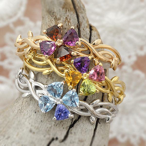 GWイベント開催中 自由に選べる宝石。アミュレットリング「クローバー」jewelry_benebene 母の日