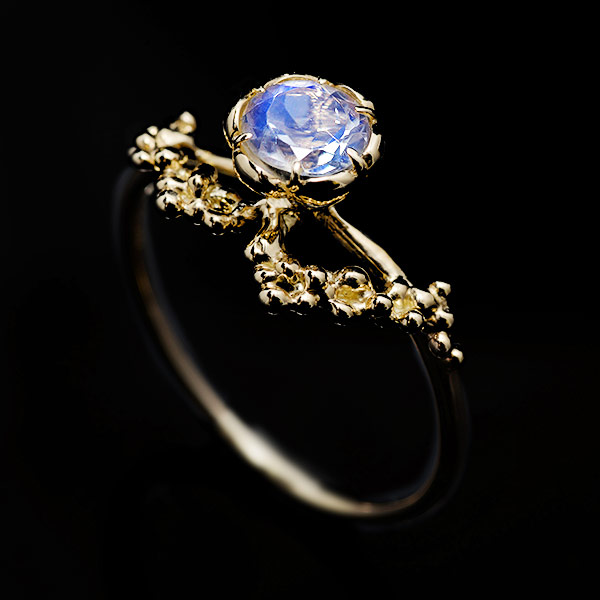 K10ラブラドライトリング「ミカエル」jewelry_benebene