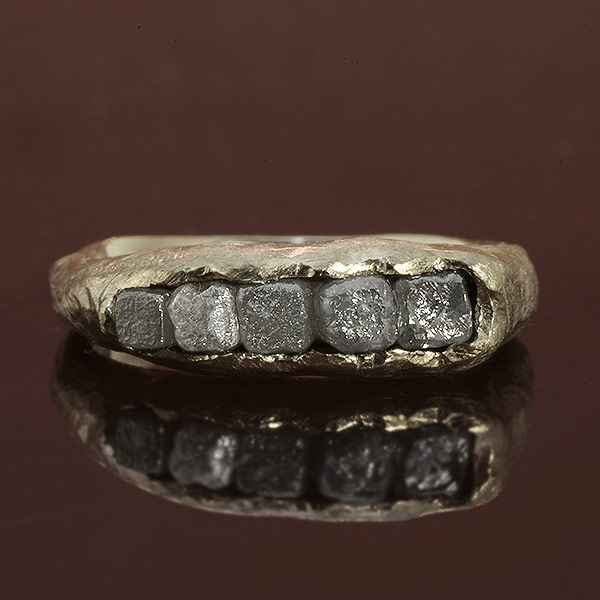 エントリーのみでポイント10倍 4/9 20時~ 数量限定! ダイヤモンド原石ピンキーリング「ロック」jewelry_benebene 送料無料