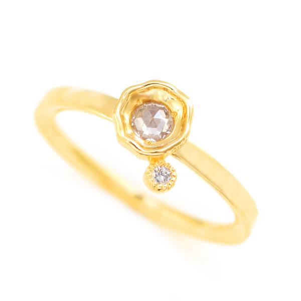 エントリーのみでポイント10倍 4/9 20時~ MYTHOS series HIKARI Rosecut diamond×Diamond ring「光」ローズカットダイヤモンド×ダイヤモンド リング