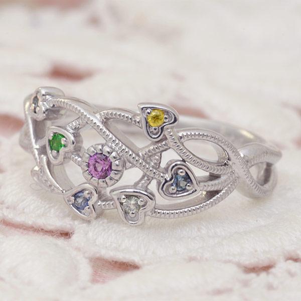 ファンシーカラーサファイア×ダイヤモンドリング「ロータス」jewelry_benebene 誕生石 4月 9月