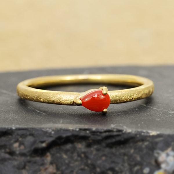 赤珊瑚テクスチャーリングテクスチャーをお選び頂けますjewelry_benebene 誕生石 3月