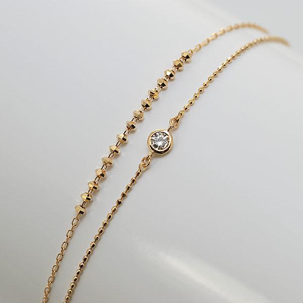 エントリーのみでポイント10倍 4/9 20時~ 手首が華奢に見える。ダイヤモンドしゃらしゃらブレスレット対応金種:K18WG/K18YG/K18PG送料無料
