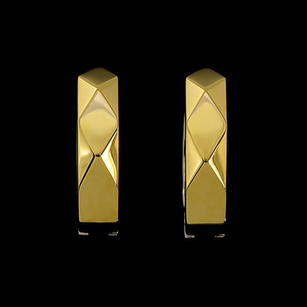エントリーのみでポイント10倍 4/9 20時~ K10 Oro ピアリング YG/ コンビ 鏡面 イヤリング「diamante」K18仕様は別ページよりご注文ください
