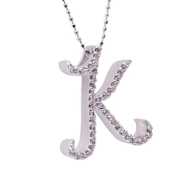 """다이아몬드 이니셜 펜던트""""K""""대응금종:K18PG/YG/WG/SG 10P03Dec16"""