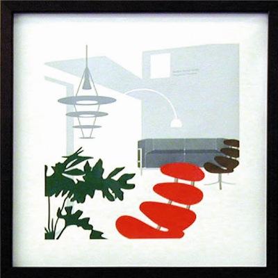 Art frames coronachair & sofa LC3 Toshiaki Yasukawa