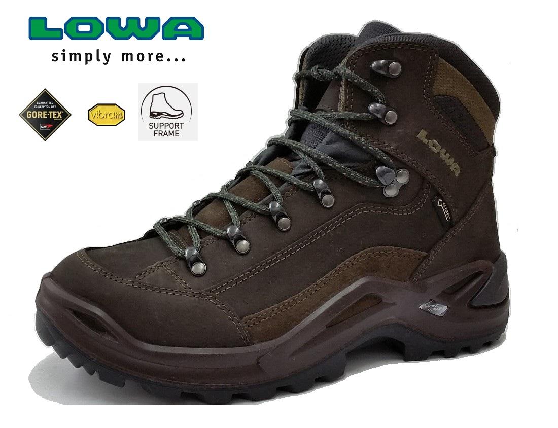 LOWA (ローバー) メンズ RENEGADE GT MID/レネゲード GT MID/GORE-TEX/ゴアテックス/登山靴/トレッキングシューズ/L310945