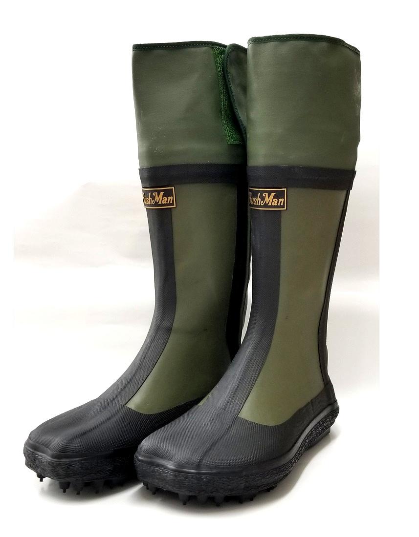 BushMan (ブッシュマン) スパイク付きブーツ フード付き防水たび 中割れハゼ付き/狩猟用ブーツ/ハンティングブーツ/スパイク足袋