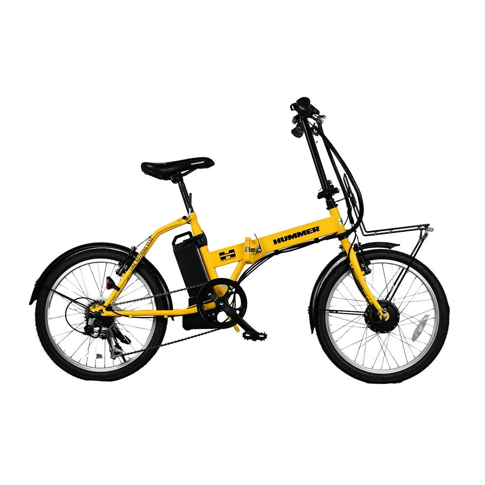 送料無料 HUMMER 電動自転車 NX-HMF206 YE ハマー イエロー 電動アシスト 自転車 バイク 6段 ?色 公式ショップ 日本正規品 外装 メーカー直送 20インチ 折りたたみ