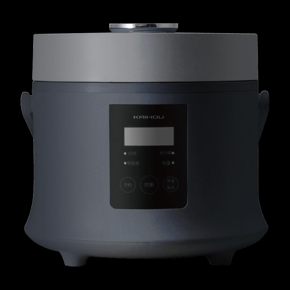 送料無料 生活感を感じさせない スタイリッシュ 炊飯器 KAIHOU 3合炊き コンパクト 早炊き保温機能 ブラック 人気ブランド多数対象 数量は多 KH-SK500 スタイリッシュデザイン 簡単 でおいしく炊ける 黒