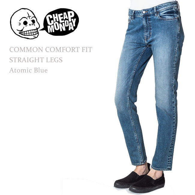 【SALE】Cheap Monday(チープマンデー)COMMON COMFORT FIT STRAIGHT LEGS Atomic Blue【送料無料】ボーイフレンド/リラックスデニム/ルーズスキニー