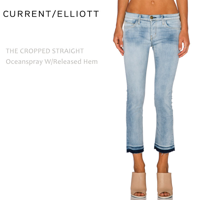 【SALE】CURRENT ELLIOTT(カレントエリオット)THE CROPPED STRAIGHT Oceanspray w/Released Hem ストレート/カットオフ/クロップド