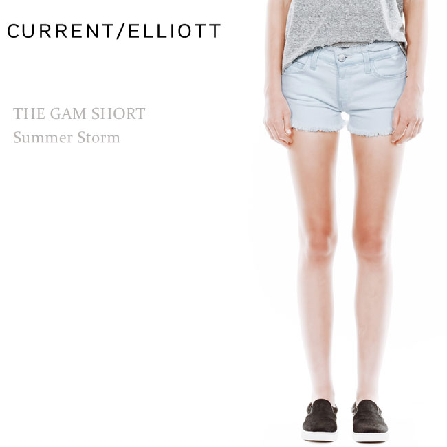 【SALE】Current Elliott(カレントエリオット)THE GAM SHORT Summer Stormショートデニム/ショートパンツ/デニムショート