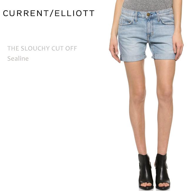 【SALE】CURRENT ELLIOTT(カレントエリオット)THE SLOUCHY CUT OFF Sealineショートデニム/ルーズフィット/ボーイフレンドショート