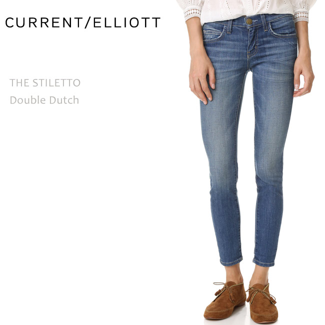 【SALE】CURRENT ELLIOTT(カレントエリオット)THE STILETTO Double Dutchスキニー/クロップド/デニム