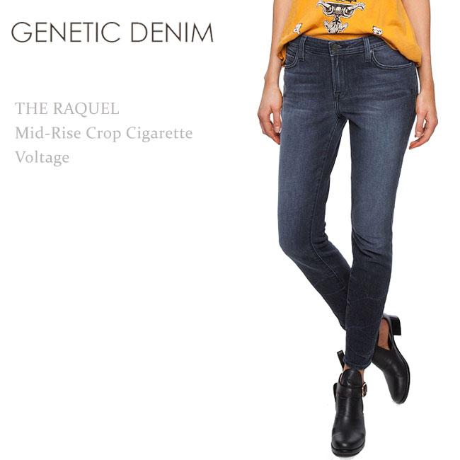 【SALE】Genetic Denim(ジェネティック・デニム) The Raquel Mid-Rise Crop Cigarette Voltage/ヴィンテージグレー【送料無料】スキニー/カラーデニム