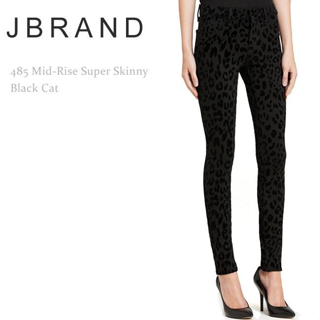 【SALE】J Brand(ジェイブランド・ジェーブランド)485 Mid-Rise Super Skinny Black Cat【送料無料】スキニー/カラーデニム/スーパースキニー