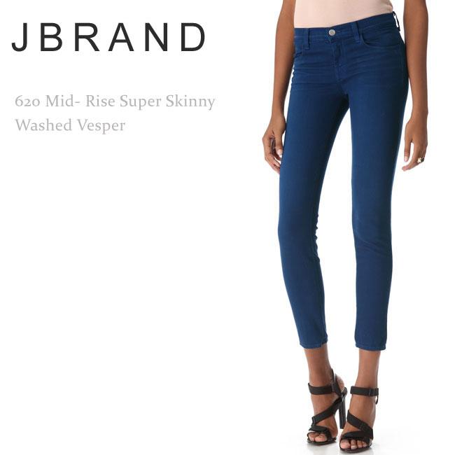 【SALE】J Brand(ジェイブランド・ジェーブランド)620 Mid-Rise Super Skinny Washed Vesper【送料無料】カラーデニム/スキニーデニム