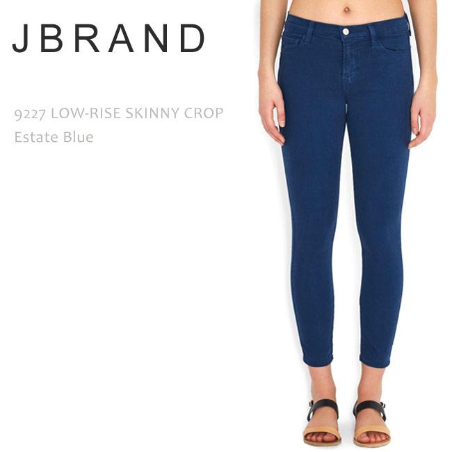 【SALE】J Brand(ジェイブランド・ジェーブランド)9227 LOW RISE SKINNY CROP Estate Blueスキニー/デニム/ジーンズ/クロップドデニム/カラーデニム