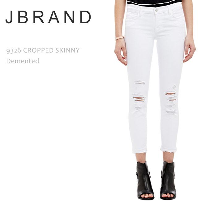 J BRAND(ジェイブランド・ジェーブランド)9326 LOW-RISE CROPPED SKINNY Demented【送料無料】スキニー/ホワイトデニム/ダメージデニム/クロップド