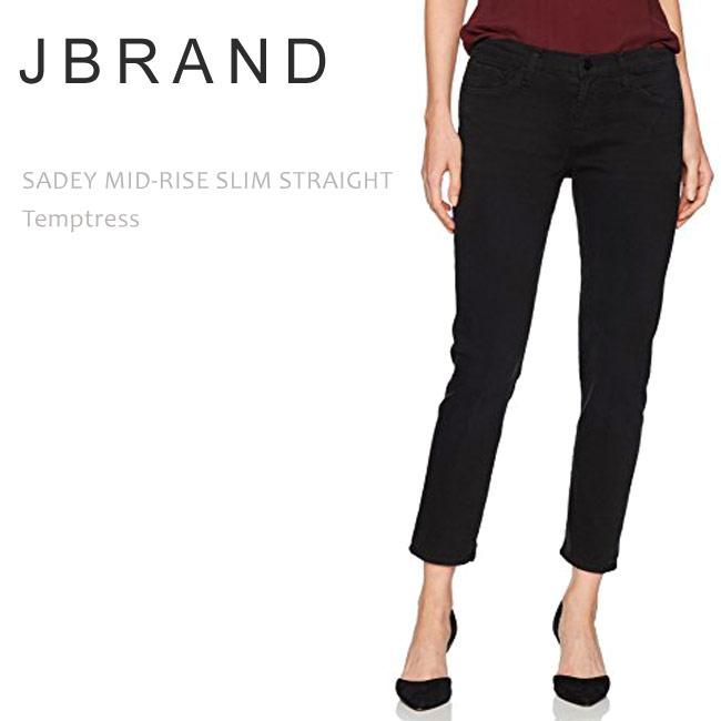 【SALE】J BRAND(ジェイブランド・ジェーブランド)SADEY MID RISE SLIM STRAIGHT Temptressストレート クロップドデニム ボーイフレンド カラーデニム ブラックデニム