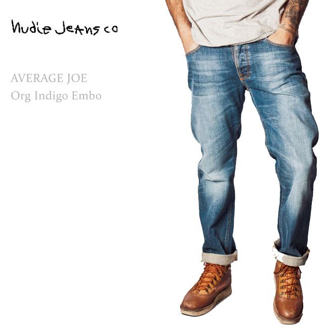 【SALE】Nudie Jeans(ヌーディー・ジーンズ) Average Joe Organic Indigo Embo【送料無料】