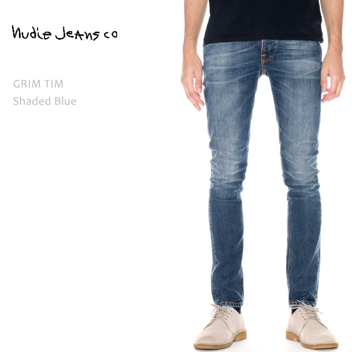【SALE】NUDIE JEANS(ヌーディー ジーンズ)GRIM TIM Shaded Blue