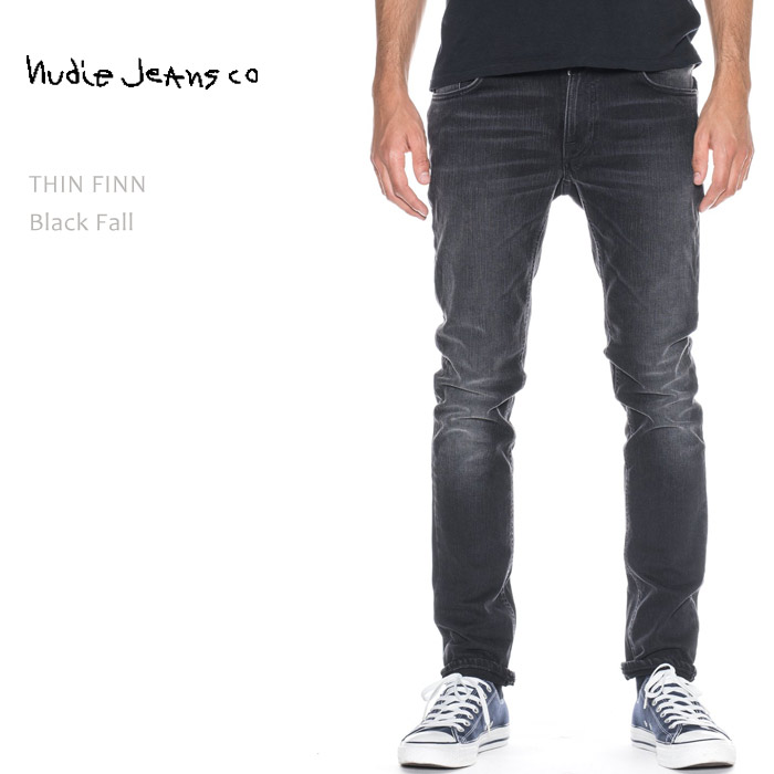 【SALE】NUDIE JEANS(ヌーディー ジーンズ)THIN FINN Black Fall