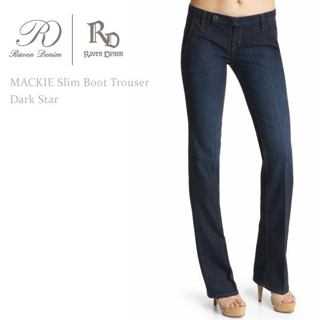 【SALE】Raven Denim(レーベン・デニム) Mackie Trouser Boot Dark Star【送料無料】ブーツカット/美脚デニム/トラウザー/デニム/ジーンズ