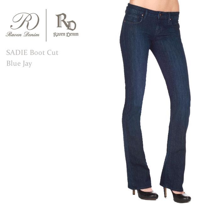 【SALE】Raven Denim(レーベン・デニム) SADIE Bootcut Blue Jay【送料無料】ブーツカット/美脚デニム