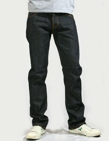 【SALE】Nudie Jeans(ヌーディー・ジーンズ)Easy Emil Straight Leg Dry Navy Organic 【送料無料】