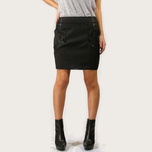【Special Price】Rogan(ローガン) Geo Mini Skirt Balck 【送料無料】