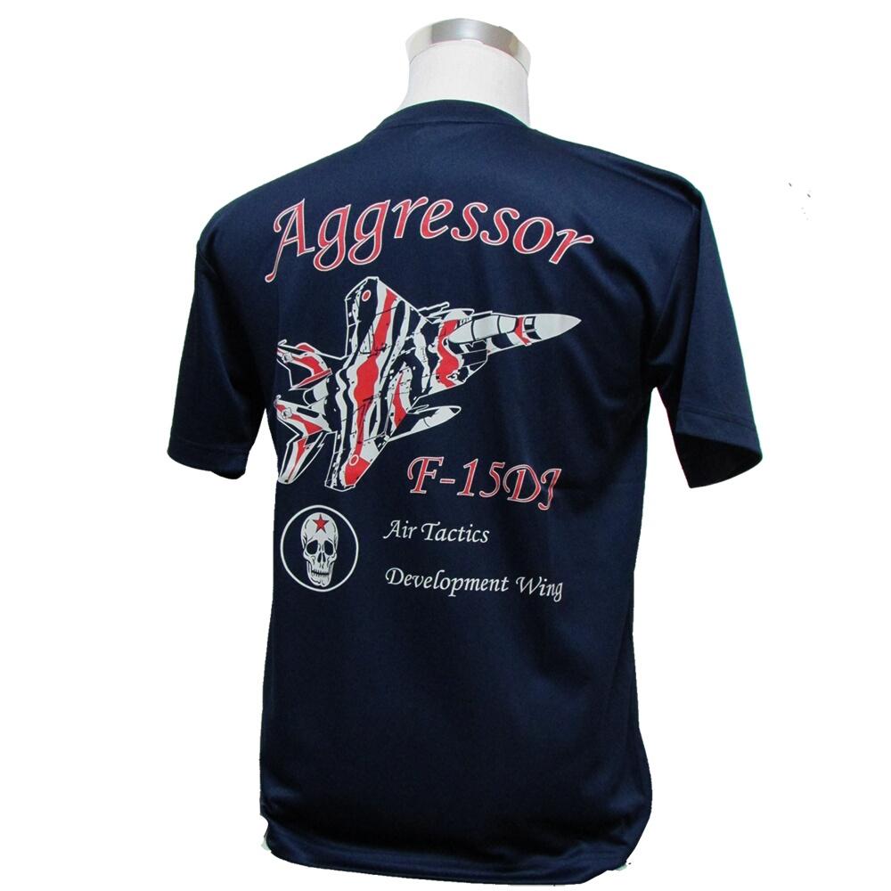 Tシャツ シャツ 航空自衛隊 公式ストア 空自 ドライ 小松基地 自衛隊グッズ 速乾 アグレッサー柄2 商い 飛行教導群