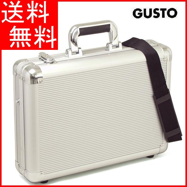 【全国送料無料】アタッシュケース アルミ ビジネスバッグ B4F 43cm 2WAY ガスト メンズ 21197(シルバー)