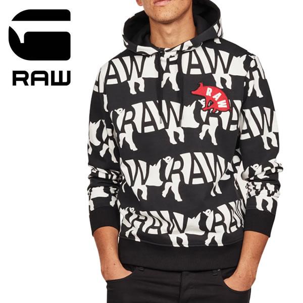 ジースター ロウ【G-STAR RAW】D11893.A867 Chinese NY Core Hooded Sweat メンズ フード プルオーバー スウェット トップス パーカー 長袖 ロゴ プリント柄 【あす楽】