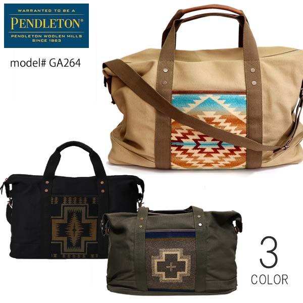 ペンドルトン【PENDLETON】GA264 2way ボストンバッグ WEEKENDER ショルダーバッグ ネイティブ柄 大容量 旅行 コットン 鞄 ペンデルトン BAG【あす楽】