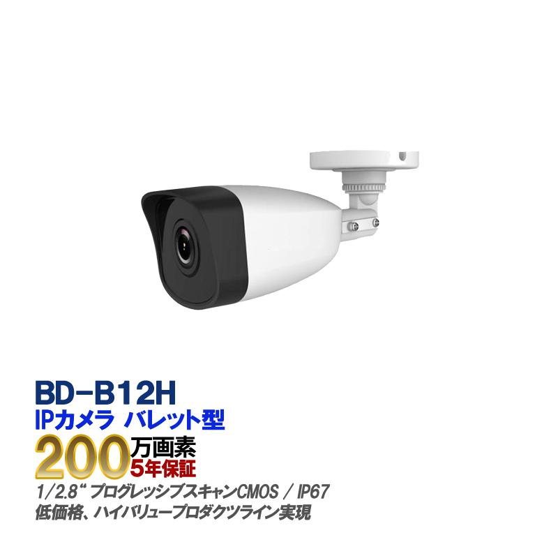 防犯カメラ 監視カメラ 遠隔監視 防犯システム 防犯・監視カメラ防犯カメラ IP CAMERA BD-B12H 最大2メガピクセル ネットワークカメラ 4mm【送料無料】【あす楽対応】