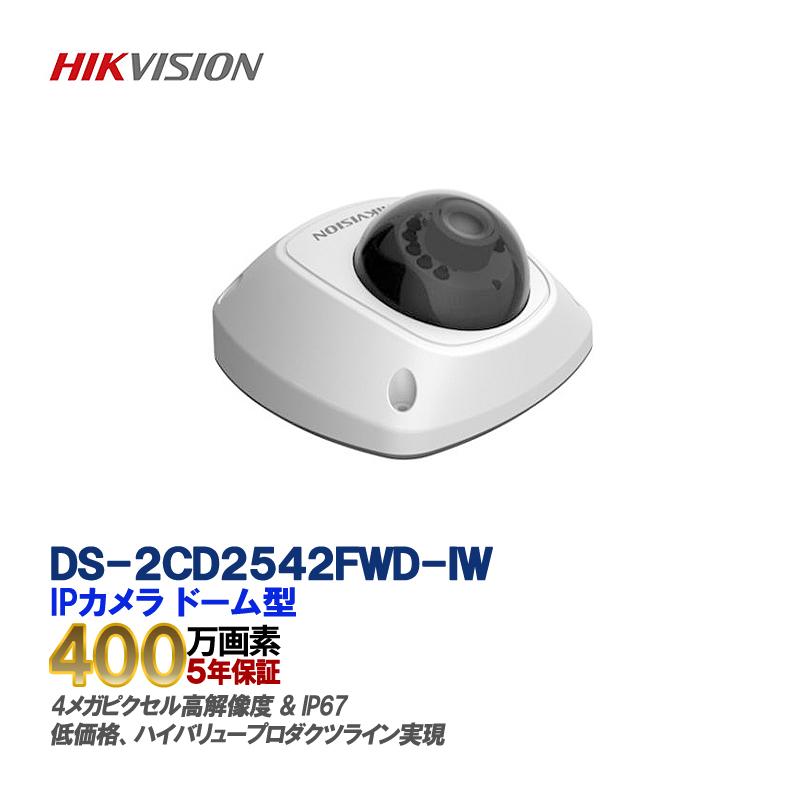 IP CAMERA DS-2CD2542FWD-IW/4メガピクセルWDRミニドームネットワークカメラ