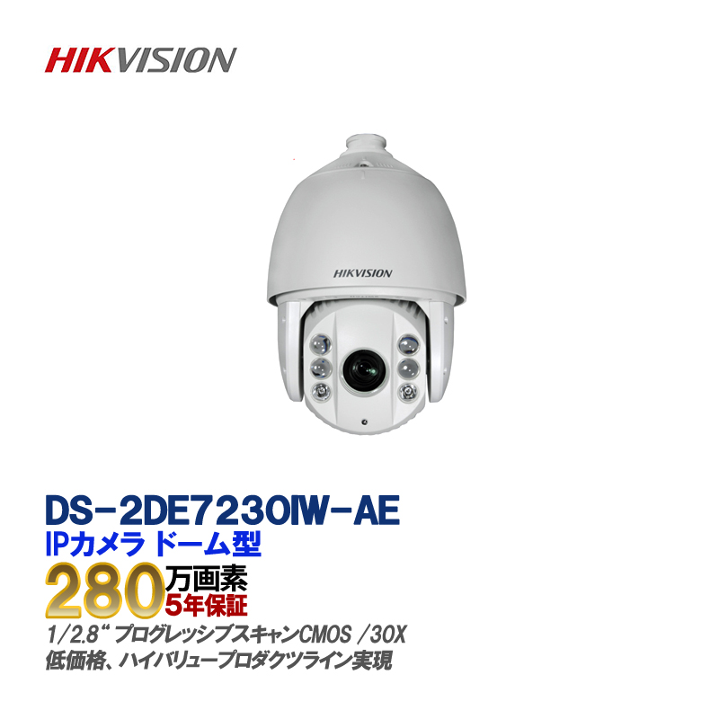 IP CAMERA /DS-2DE7230IW-AE 屋外用2メガHD 30X光学ズームネットワークIR PTZドームカメラ