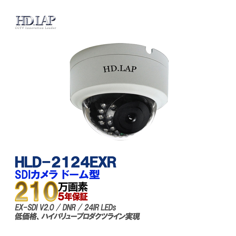 HD.LAP 防犯カメラ 屋内用 ドーム型 赤外線 IR-LED HD-SDI 3.6mm 監視カメラ 屋内用 CMOSセンサー搭載 HLD-2124EXR 【送料無料】【あす楽対応】